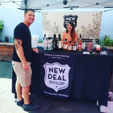 Our sponsor New Deal Distillery handed out tastings of their locally made craft spirits.