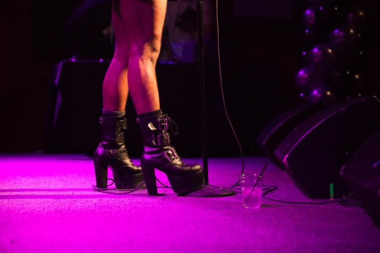 Maarquii in heels. Photo by Chitra Subrahmanyam